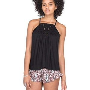 Volcom Women's Starry Flite Top - L - Black